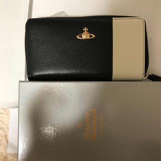 Vivienne Westwood - ヴィヴィアンウエストウッド 小銭入れ 人気長財布 ブラック ラウンドファスナー