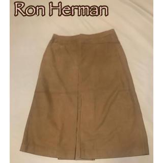 Ron Herman - ロンハーマン Ron Herman ゴート革レザー スカート キャメル ベージュ