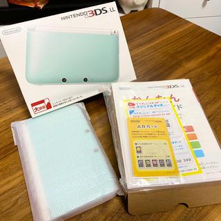 ニンテンドー3DS - ニンテンドー3DS LL ミント×ホワイト + 専用充電器(おまけ)