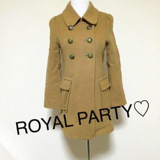 ロイヤルパーティー(ROYAL PARTY)のROYAL PARTY☆襟取り外し2wayロングコート(ロングコート)