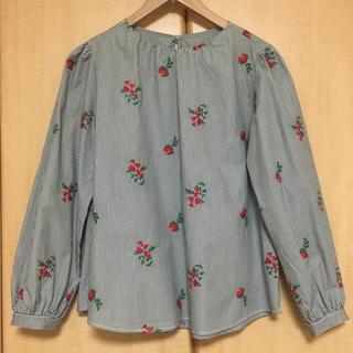 GU - バラ刺繍ブラウス