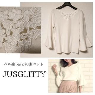 JUSGLITTY - 【ジャスグリッティー】刺繍 ニット