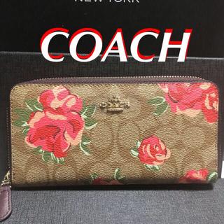 COACH - COACHレディースシグネチャ-x赤い薔薇◆2018年〜長きに渡り人気の長財布