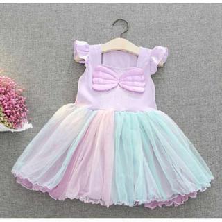 【100】♡大人気♡女の子 ワンピース ふわふわ 可愛い 半袖 スカート フリル