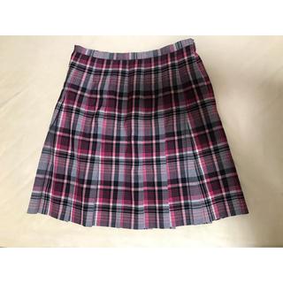 イーストボーイ(EASTBOY)のEAST BOY  ピンク×黒 チェック プリーツスカート (ミニスカート)