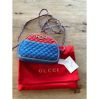 Gucci - ラミネートキルティングミニショルダーレザーバッグ 新品