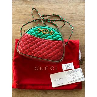 Gucci - ラミネートキルティングミニショルダーレザーバッグ 新品未使用