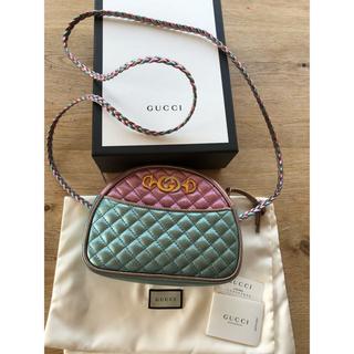 Gucci - 新品未使用ラミネートキルティングミニショルダーレザーバッグ