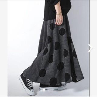 antiqua - アンティカ ドット柄変形スカート