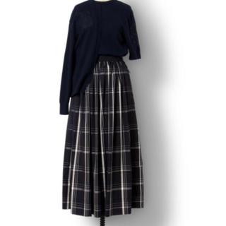 Drawer - ドゥロワー  Drawer チェック リボン スカート 2019秋冬