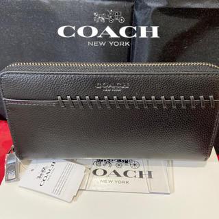 COACH - プレゼントにも❤️新品コーチ正規品 大人の逸品BBステッチ ラウンドジップ長財布