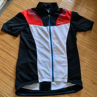 シマノ(SHIMANO)のシマノ サイクルジャージ 黒白赤 アジアMサイズ(ウエア)