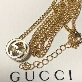 Gucci - GUCCI チャーム 喜平 ネックレス ゴールドカラー