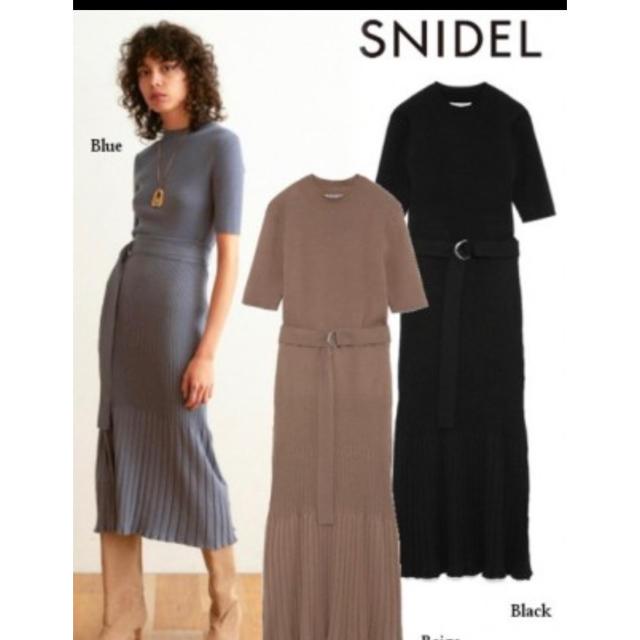 snidel(スナイデル)のスナイデル ニットツーピース レディースのレディース その他(セット/コーデ)の商品写真
