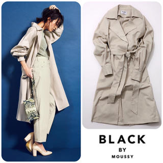 BLACK by moussy - BLACK BY MOUSSY☺︎loose long trench coat