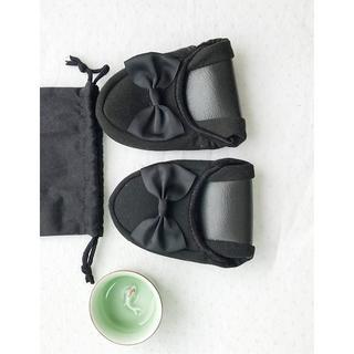 【新品】携帯スリッパ 女性用 幼稚園 受験 折畳 室内履き 旅行 学校 収納袋付