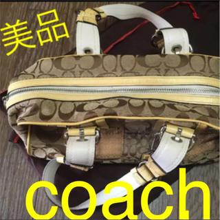 COACH - coach 黄色 ハンドバッグ 美品