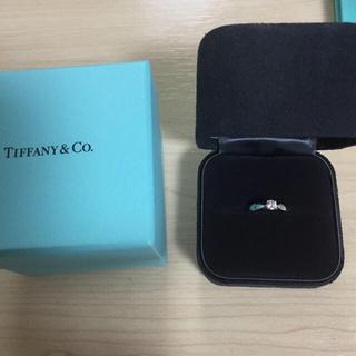 Tiffany & Co. - ティファニー  ダイヤモンドリング pt950 美品