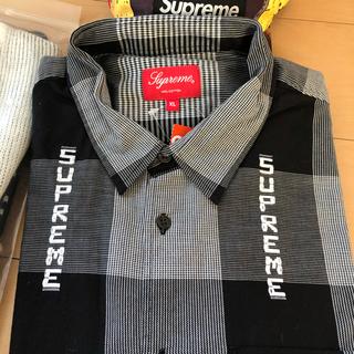 Supreme - supreme logo plaid shirt