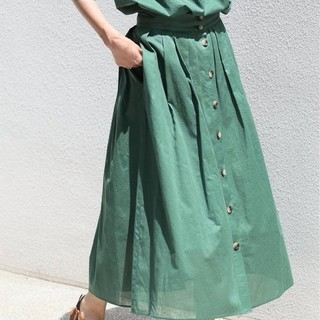 IENA - フロントボタンスカート