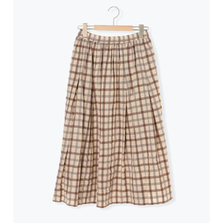SM2 - チェック柄ギャザースカート