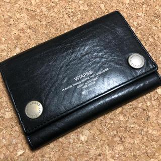 W)taps - ダブルタップス 財布 3つ折り レザー ブラック