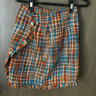 Lily Brown - リリーブラウン ツイードミニスカート