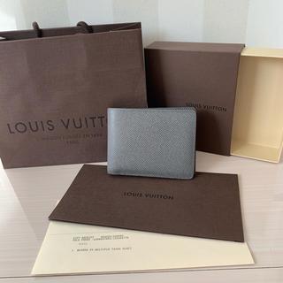 LOUIS VUITTON - ルイヴィトン メンズ 二つ折り財布 タイガ グラシエ