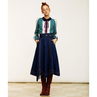REDYAZEL - 新品 タグなし REDYAZEL デニムデザインフレアスカート
