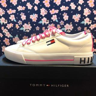 トミーヒルフィガー(TOMMY HILFIGER)のトミーヒルフィガー スニーカー ローカット シューズ ホワイト 白ロゴ ブランド(スニーカー)