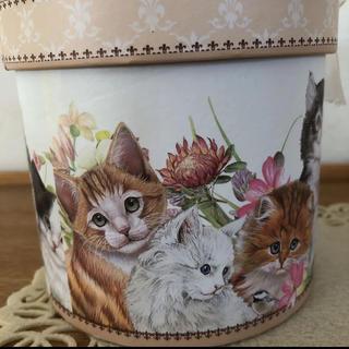 猫の日限定値下げ 猫イラスト トレー ガーゼハンカチ 菓子BOX