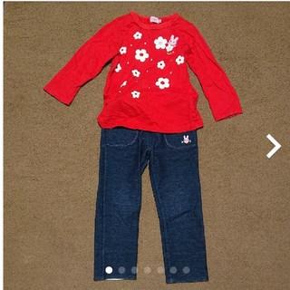 ホットビスケッツ(HOT BISCUITS)の女の子用 上下セット100cm HOT BISCUITS(Tシャツ/カットソー)