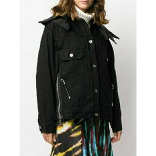 sacai - sacai サカイ 新品同様 ブラックデニム ドッキング ジャケット