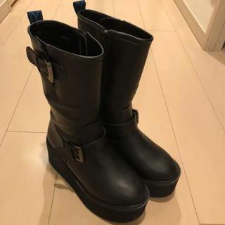 ヨースケ(YOSUKE)の【美品】ヨースケ エンジニアブーツ(ブラックM)(ブーツ)