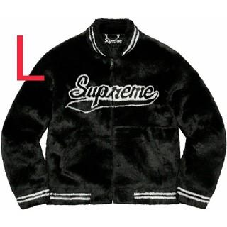 Supreme - Supreme Faux Fur Varsity Jacket Lサイズ 黒