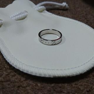グッチ(Gucci)のGUCCI グッチ リング K18 ホワイトゴールド(リング(指輪))