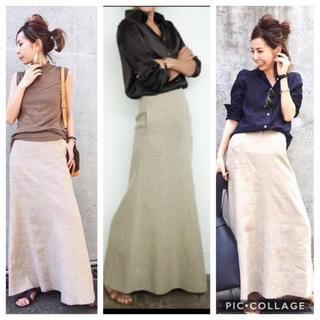 L'Appartement DEUXIEME CLASSE - MADISON BLUE リネンマキシスカート LINEN MAXI skart