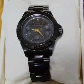アガット(agete)のagete 時計 黒 ブラック 美品(腕時計)