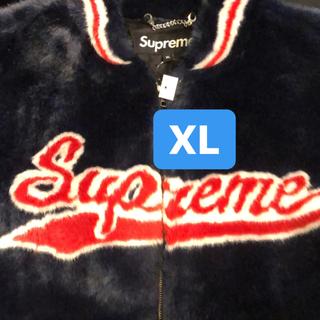 Supreme - Supreme Faux Fur Varsity Jacket XL