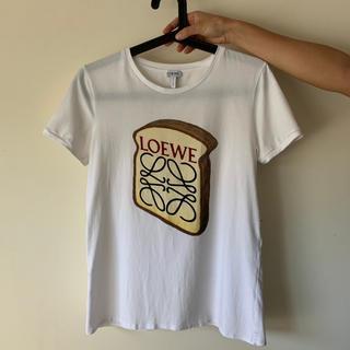 ロエベ(LOEWE)の美品 Loewe ロエベ トースト Tシャツ S ホワイト(Tシャツ(半袖/袖なし))