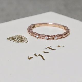 agete - アガット K10 ドレスリング ダイヤモンド 指輪 agete