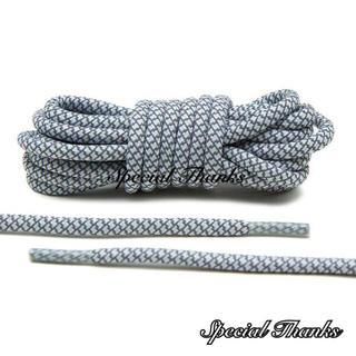 リフレクティブ/シューレース(靴紐)/ロープレース(丸紐)/ホワイト/120cm(スニーカー)