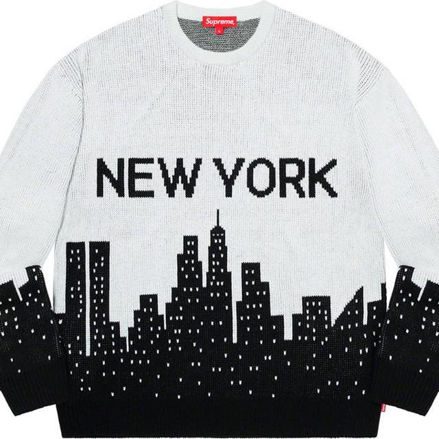 Supreme(シュプリーム)のSupreme New York Sweater L White メンズのトップス(ニット/セーター)の商品写真
