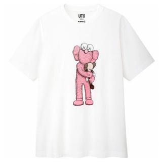 UNIQLO - 【新品・XL】UNIQLO KAWS Pink BFF Tee カウズ