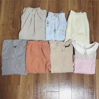 レディース ガーリー ナチュラル系 スカート・パンツ・トップスおまとめセット売り