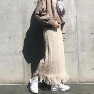 Kastane - ジャガード柄フリンジスカート 最安値☆