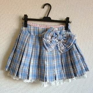 LIZ LISA - 【新品 タグ付】リズリサ トゥララ チェック柄 プリーツスカート リボン付