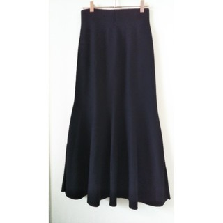 ENFOLD - エンフォルドENFOLDニットスカート黒