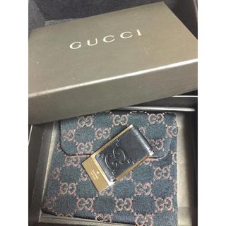 Gucci - グッチ マネークリップ シマ ブラック GG  メンズ GUCCI