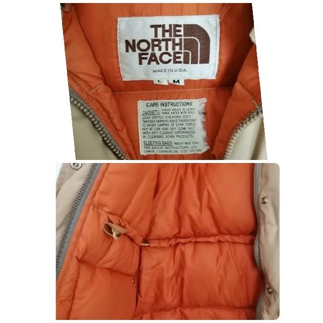 THE NORTH FACE(ザノースフェイス)のUSA製 70s 80s NorthFace 茶タグ vintage ダウン メンズのジャケット/アウター(ダウンジャケット)の商品写真